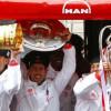 جماهير بايرن تتحدى الأمطار وتحتفل بموكب الفريق صاحب الثلاثية التاريخية