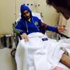 الاصابة ترسل السهلاوي للمستشفى وتضطر التون للخروج من الملعب