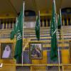 النصر يزين ملعبه بأعلام الوطن ويواصل تحضيراته لمواجهة الشعلة