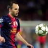 الإصابة تغيب انييستا عن برشلونة لمدة شهر
