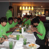 بالصور: الأخضر الصغير يختتم معسكره بلقاء سلان قور الماليزي
