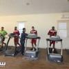 بالصور | مران الفيصلي على فترتين وتدريبات لياقية في صالة الحديد