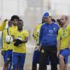 بالصور : داسيلفا يكثف اللياقة ومناورة للاعبي النصر