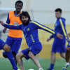 بالصور : النصر يستأنف تدريباته بمران لياقي مكثف