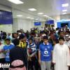 حشد جماهيري يستقبل الهلال في مطار جدة