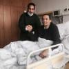 الأمير فهد بن خالد يزور مروان دفتردار في أحد مستشفيات المانيا