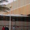 """حافلة """" العروبة """" تصطدم بمدخل ملعب المجمعة"""