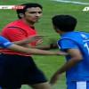 تهجم لاعب شباب الهلال على الحكم