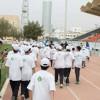 200 مشارك في يوم المشي بنادي الشباب