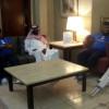 منسوبو أولمبي الهلال يزورون مدافع العروبة الصحابي