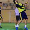 بالصور : تدريبات تكتيكية تجهز التعاون للقاء النصر