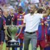 غوراديولا يغازل لابورتا بعد ترشحه لرئاسة برشلونة مجددا