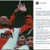مهاجم النصر الجديد يحتفل ببطولته الأخيرة مع ريفر بليت