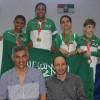 6 ميداليات لبراعم الاخضر في افتتاح دولية المبارزة