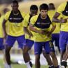 بالصور : النصر يبدأ إعداده لنجران بمناورة وهادي يزور التدريبات