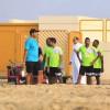 آل فريج يشارك في التدريبات الجماعية ولاعبو الخليج يتدربون في الرمال الحرة