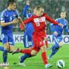 أدريان ميرزفيسكي يحتفل بتأهل منتخب بلاده الى يورو 2016