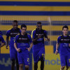 """بالصور : مران لياقي مكثف للاعبي النصر والادارة تعزي الفريدي في وفاة """" خاله """""""