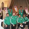 الرئيس العام يكرم أبطال ذهبية وفضية بطولة العالم للكاراتيه