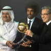 جائزة افضل لاعب خليجي جلوب سوكر للسعودي ياسر الشهراني