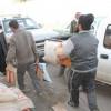 بر القريات توزع سلال غذائية للأسر السورية