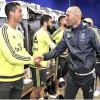 """بالصور : لاعبو """"الميرنغي """" يرحبون بزيدان باستاد برنابيو"""
