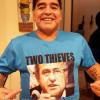 مارادونا يسخر من بلاتر وبلاتيني