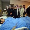 زيارة ادارة نادي الفتح ونادي الخليج لمصابين تفجير الاحساء