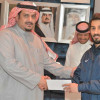 رئيس الهلال يكرم قائد كاراتيه النادي عماد المالكي
