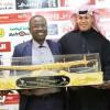 رئيس الاتحاد الغاني يزور النادي الفيصلي