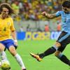 تعادل البرازيل والاورغواي بهدفين لمثلها