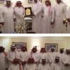 الثقبة يكرم الشيخ خالد العبدالكريم ويهديه انجاز الصعود