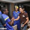 بالصور : رئيس النصر يقيم مأدبة عشاء للبعثة ونجم الفريق السابق يدعم اللاعبين