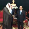 الشيخ احمد الفهد يلتقي رئيس وزراء فيتنام وباخ