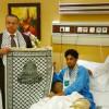 السفير الفلسطيني يدعم عبدالعزيز الجبرين من المستشفى بعد الرباط
