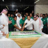 بالصور : الأمير عبدالله بن مساعد وأحمد عيد في إستقبال حافل لبعثة الاخضر الشاب