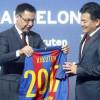 مدافع برشلونة يقطع علاقة النادي مع طيران قطر