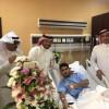 مشرف المنتخبات السنية يزور الشملان بعد إجراء عمليته الجراحية