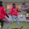 مناورة تجهز لاعبي الرائد قبل لقاء الاهلي