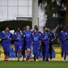 بالصور : النصر يستأنف تدريباته على ملعب الاكاديمية بحضور شرفي وإداري