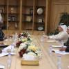 عزت يستقبل رئيس مجلس الشورى ووزير الرياضة البورندي