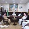 محافظ رجال ألمع يستقبل نادي ألمع ويشيد بالجهود