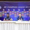 """المؤتمر الصحفي للروماني """" جالكا """" و اللاعب طلال عبسي قبل لقاء لوكوموتيف الأوزبكي"""