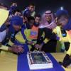 بالصور : العجلاني يكافىء لاعبي النصر واحتفالية بتجديد عوض خميس