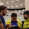 """بالصور : بعثة النصر تصل الى الدمام وسيارات """"انفينيتي"""" تستقبل اللاعبين"""