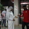 إدارة الفتح تستقبل بعثة الجزيرة الاماراتي بالورود