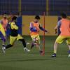 كارتيرون يكثف التدريبات اللياقية و يجري مناورة كروية للاعبي النصر