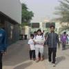 برنامج المشي الرياضي بعنوان *صحتي في خطوتي* بمدرسة عمار بن ياسر الابتدائية