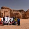 نادي الجوف يزور مدائن صالح بمحافظة العلا