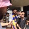 تغطية استقبال محترف النصر حسام غالي في المطار ( عدسة فؤاد الأحمري )
